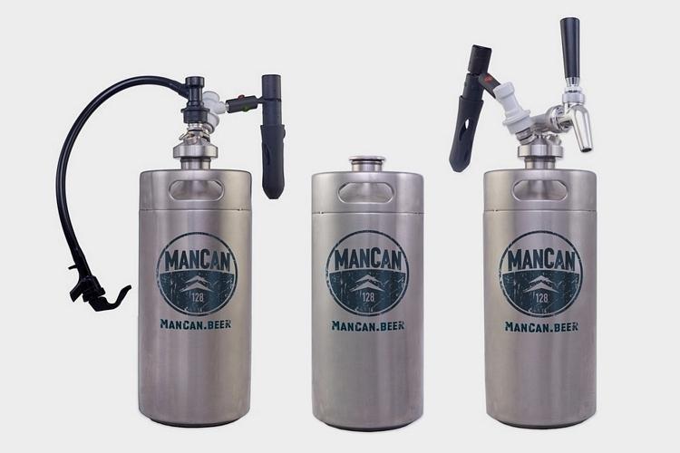 Mancan 128 Oz Personal Keg Clad