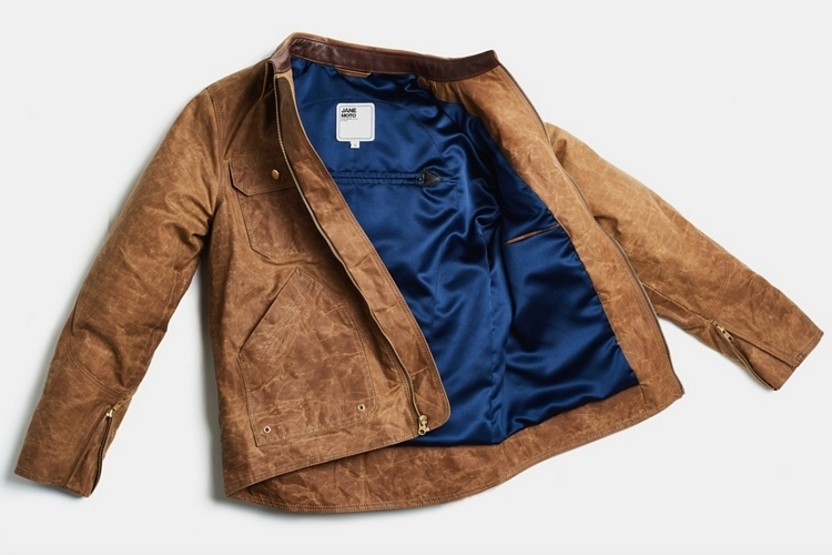 Janes Motorcycles Driggs Waxed Canvas Riding Jacket Clad