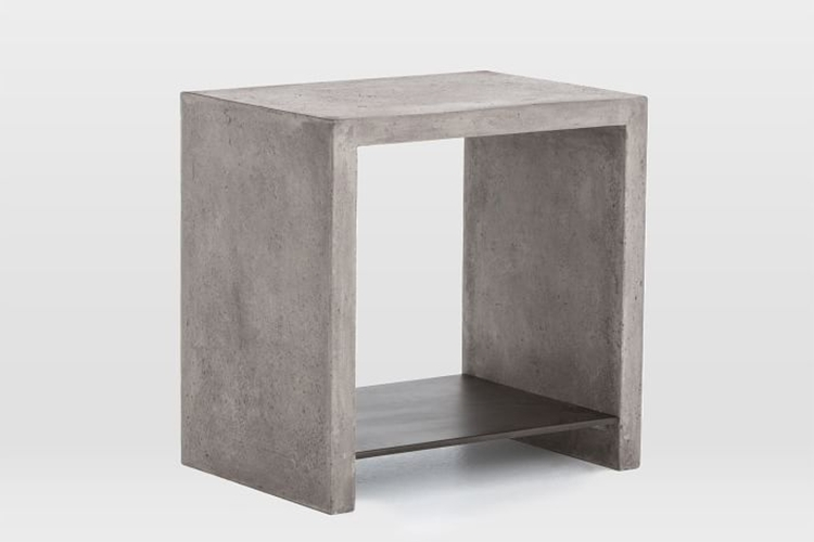 Industrial Concrete Side Table Clad